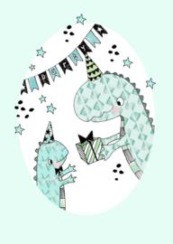 Marieke ten Berge Kaart 'Party Dino's'
