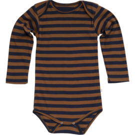 Minimalisma bodysuit // Amber-Blue Striped