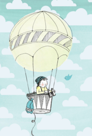 Marieke ten Berge 'Kaart Luchtballon Jongen'