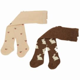 Konges Slojd 2 x Jacquard stockings // Bunny Cherry