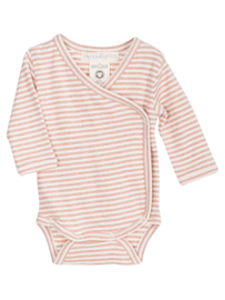 Serendipity Newborn wrap body // Clay Rose & Offwhite