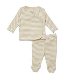 Konges Slojd Dio Two Piece Newborn Set // Quarry Blue Stripe 0-1 maand