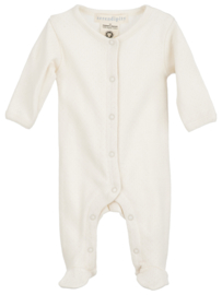 Serendipity Newborn playsuit // Offwhite Pointelle