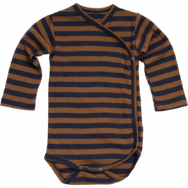 Minimalisma newborn bodysuit //  Amber /Blue Striped