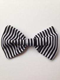 Suussies Bow Tie Wit / Zwart gestreept