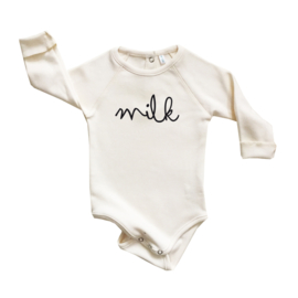 Organic zoo Bodysuit // Milk Cream