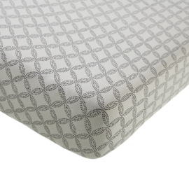 Fitted Sheet Baby Crib Geo Circles