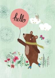 Poster A4 Rebecca Jones 'Hello Bear'
