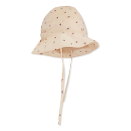 Konges Slojd Pilou Baby Sunhat // Bloom Red Blue