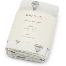 Konges Sløjd  Muslin doeken  3-pack 65 x 65 cm // Parachute creme