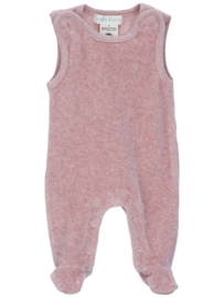 Serendipity  Velour  Romper 'Powder'