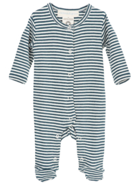 Serendipity Newborn Playsuit 'Atlantic / Offwhite' gestreept