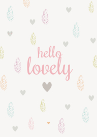 Petite Louise Kaart 'Hello Lovely'