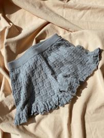 Konges Slojd Frill shorts // Quarry Blue
