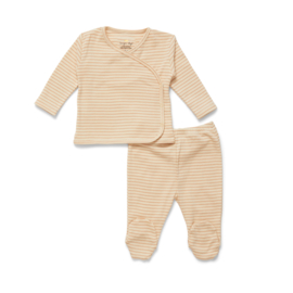 Konges Slojd Dio Two Piece Newborn Set // Toasted Peach Stripe 0-1 maand