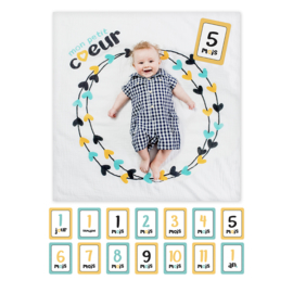Lulujo Baby's First Year Swaddle & Cards - Mon Petit Coeur