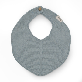 Saga Copenhagen Knitted Bib Fjola // Light Blue