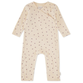 Konges Slojd Newborn Onesie // Bloom-Red Blue