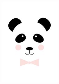 Poster A4 Studio Lily Rose 'Panda roze strik'