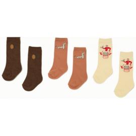Konges Slojd  3 pack jacquard socks // Lemon Bell Boy Dog