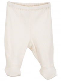 Serendipity Newborn broekje met voetjes // Offwhite Pointelle
