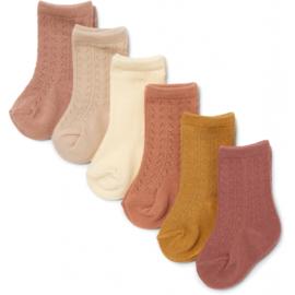 Konges Slojd 6 pack pointelle socks // Sahara shades