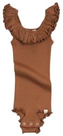 Minimalisma Barcelina bodysuit // Rooibos