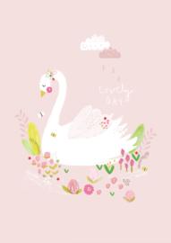 Aless Baylis Kaart 'Lovely Day Zwaan'
