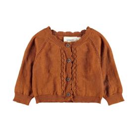 Lil' Atelier NBFisa Short knit Cardigan // Glazed Ginger Melange