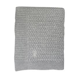Gebreide Baby Wieg deken  Soft Grey 80x100cm