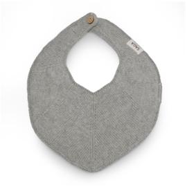 Saga Copenhagen Knitted Bib Fjola // Grey Mélange
