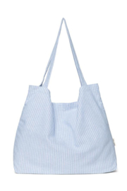 Studio Noos  Mom-Bag // Blue striped linnen