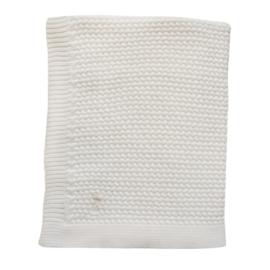 Gebreide Ledikant deken  Off white 110x140cm