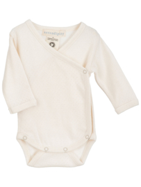 Serendipity Newborn wrap body // Offwhite Pointelle