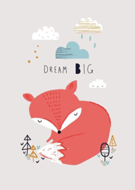 Poster A3 Aless Baylis 'Fox dream big'