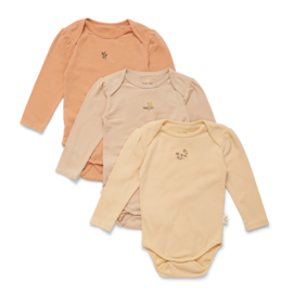 Konges Slojd 3 pack bodysuit // Peach Moonlight Mandarin