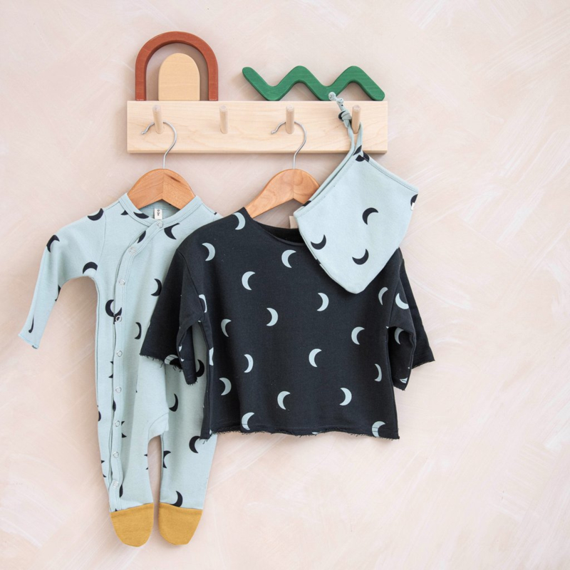 Playsuit 'Moons' with contrast feet