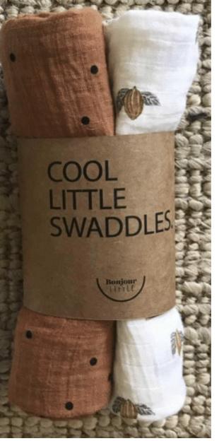 "Bonjour Little - Little Swaddle ""Tonka & Nut"""
