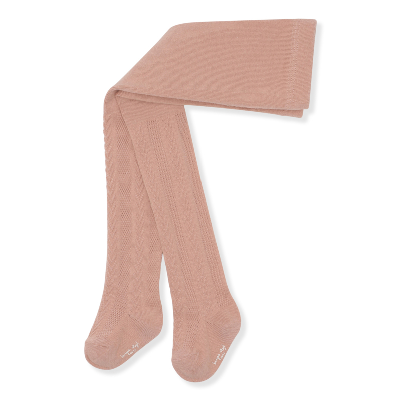Konges Slojd Pointelle Stockings // Rose Blush