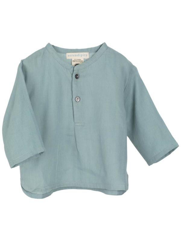 Serendipity Baby Gauze Shirt //  Dusty Blue