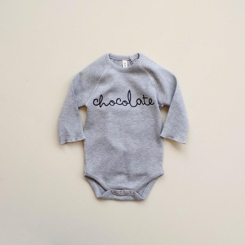 Organic zoo Bodysuit //  Chocolate Grey