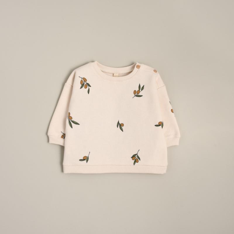 Organic zoo Sweater // Olive garden