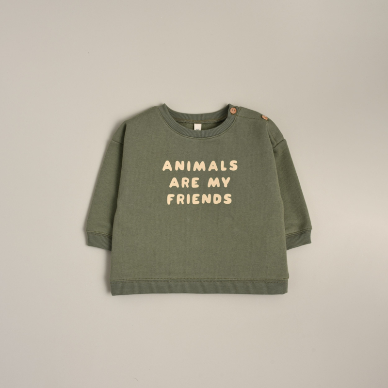 Organic zoo Sweater // Animals are my friends