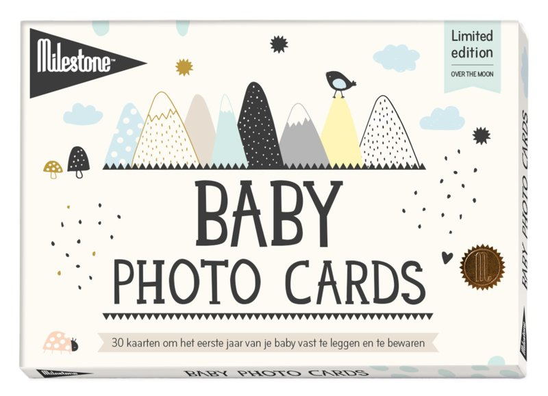Milestone™ Baby Photo Cards - Over the Moon