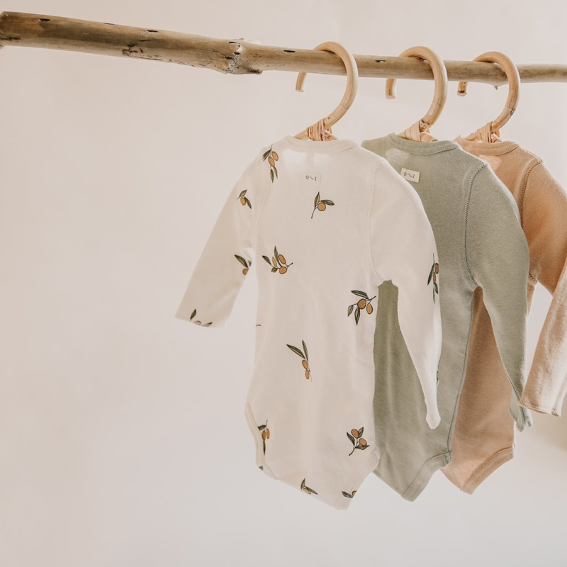 Organic zoo Wrap over bodysuit // Sage