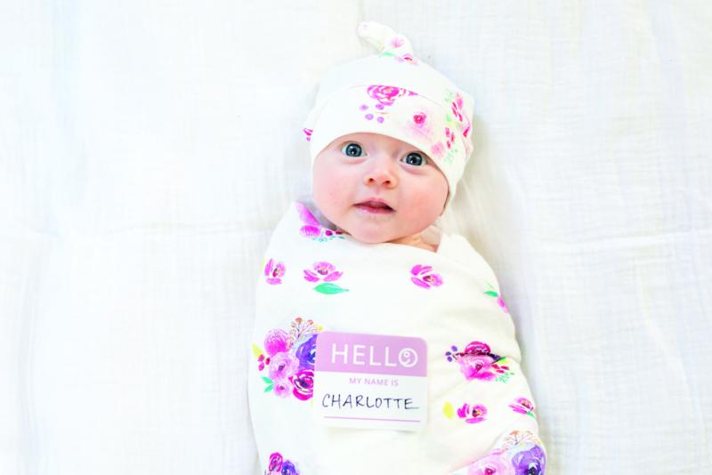 Lulujo Hello World Swaddle & Hat - Posies