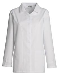 Dames vest wit lange mouw