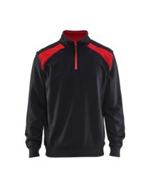 3353 Sweater Bi-colour met halve rits