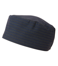Kook-Muts Nachtblauw/Stripe