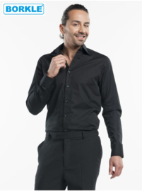 Hemd / Shirt Men Black Stretch